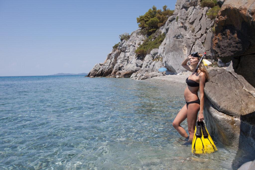 Búvárkodás, Snorkeling terhesen