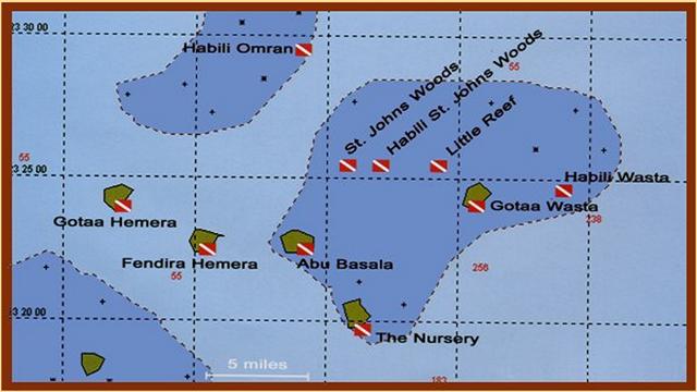 St. john's szigetek, búvár, búvárszafari, térkép